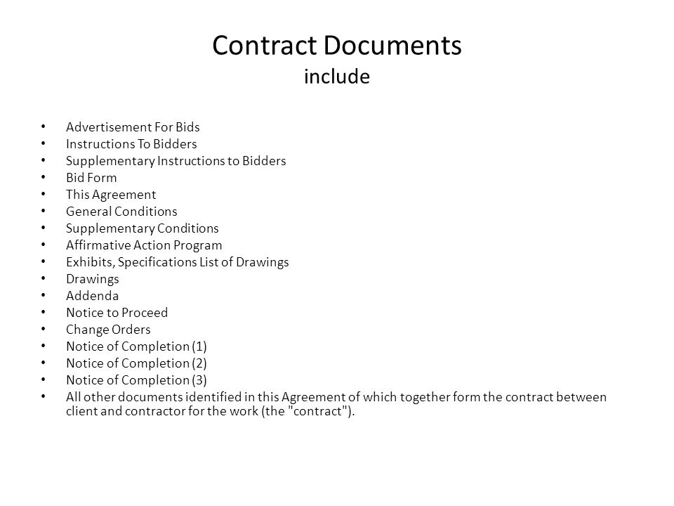 What Are Construction Documents Construction Documents Serve As A