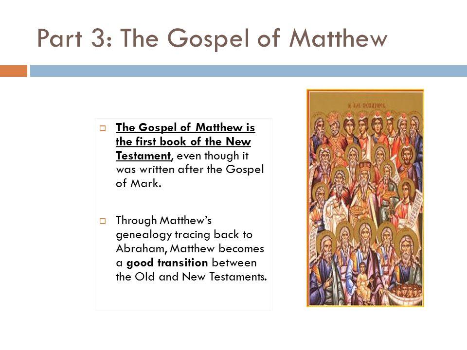 Part 3 The Gospel Of Matthew The Symbol For The Gospel Of
