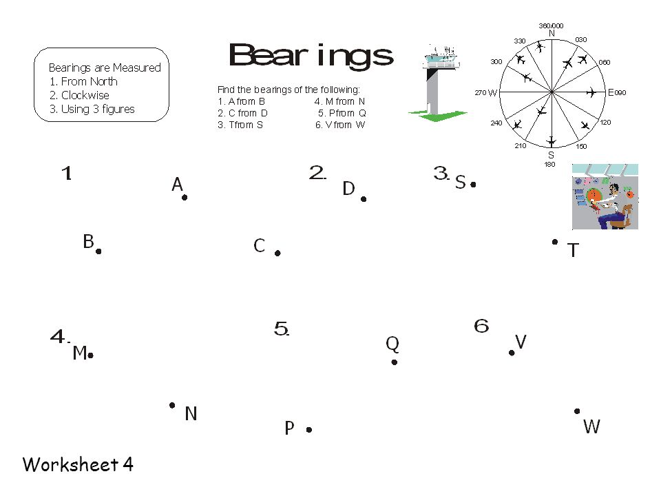 Bearings 1 Measured From North 2 In A Clockwise Direction 3