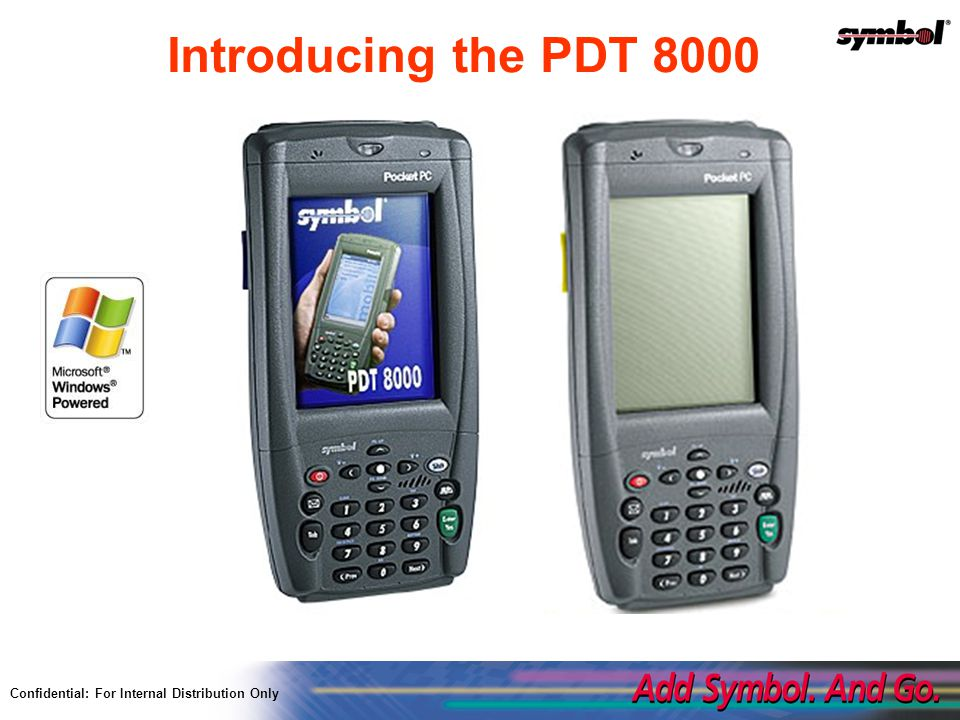 Confidential For Internal Distribution Only Pdt 8000 Series Product