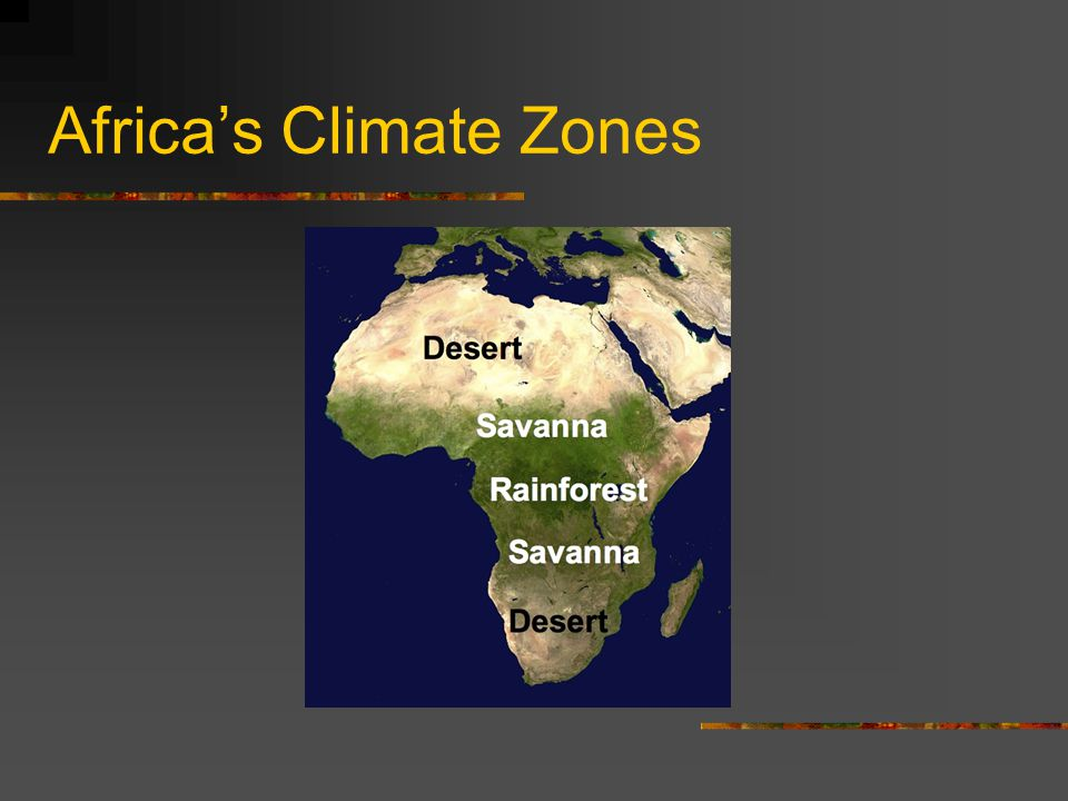 Africa's Climate Zones