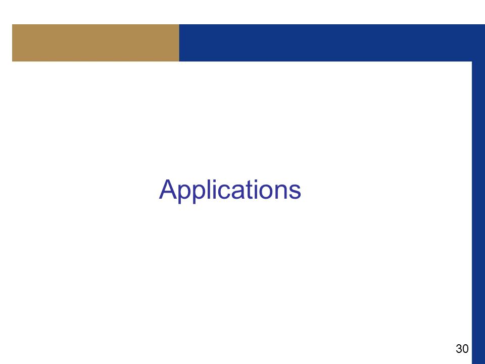30 Applications