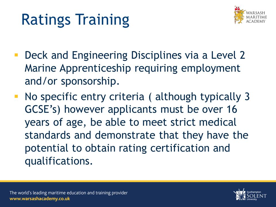 Seagoing Careers John Bazley Head of School of Professional