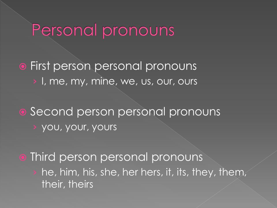is the word our third person