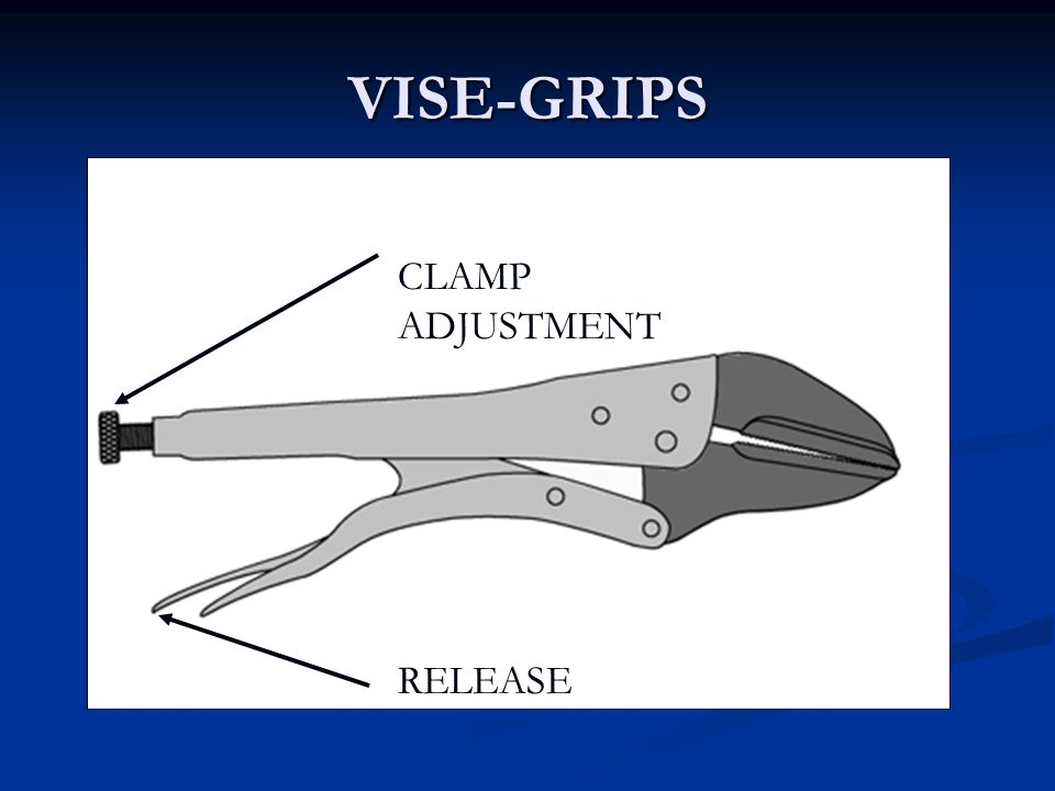 VISE-GRIPS RELEASE CLAMP ADJUSTMENT