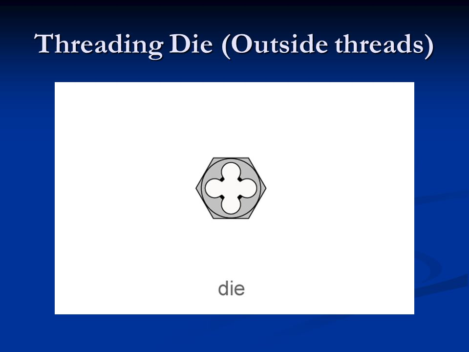 Threading Die (Outside threads)
