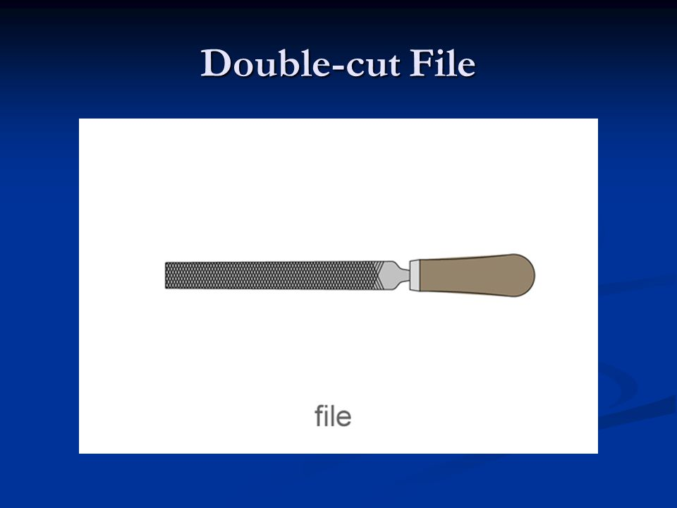 Double-cut File