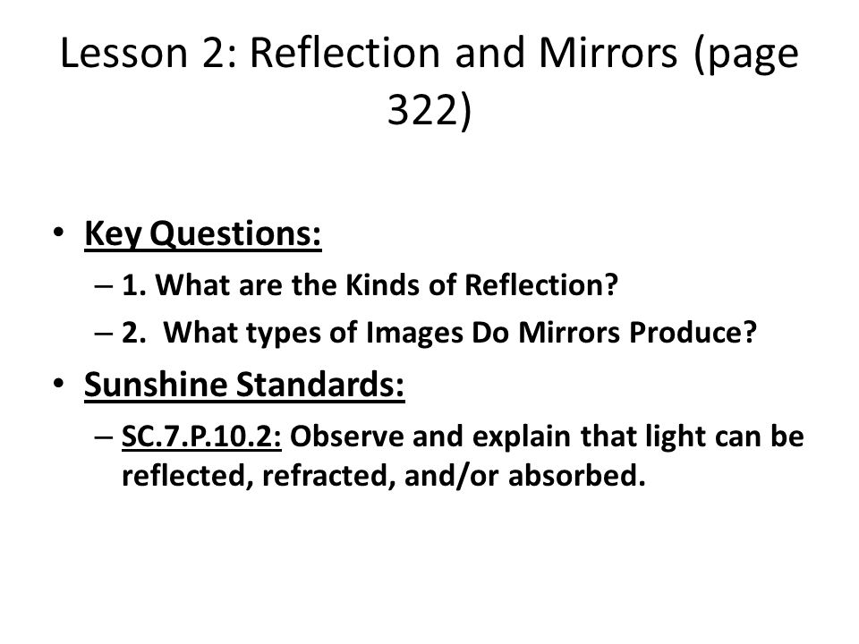 kinds of reflection
