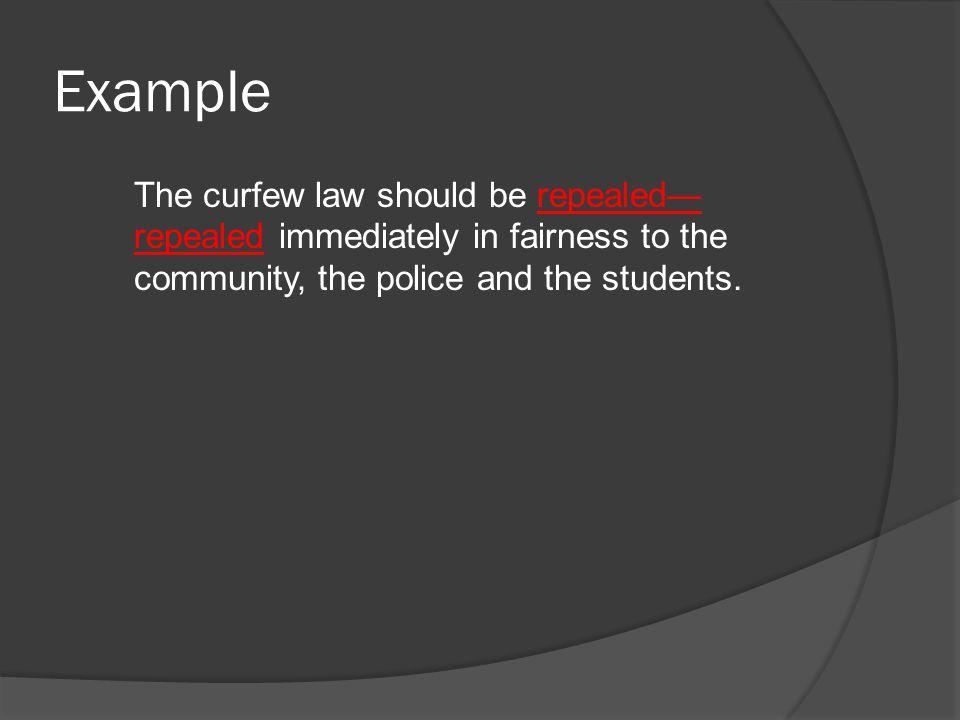 arguments against curfew laws
