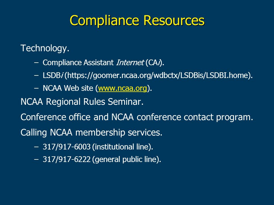 Compliance Resources Technology. –Compliance Assistant Internet (CAi).