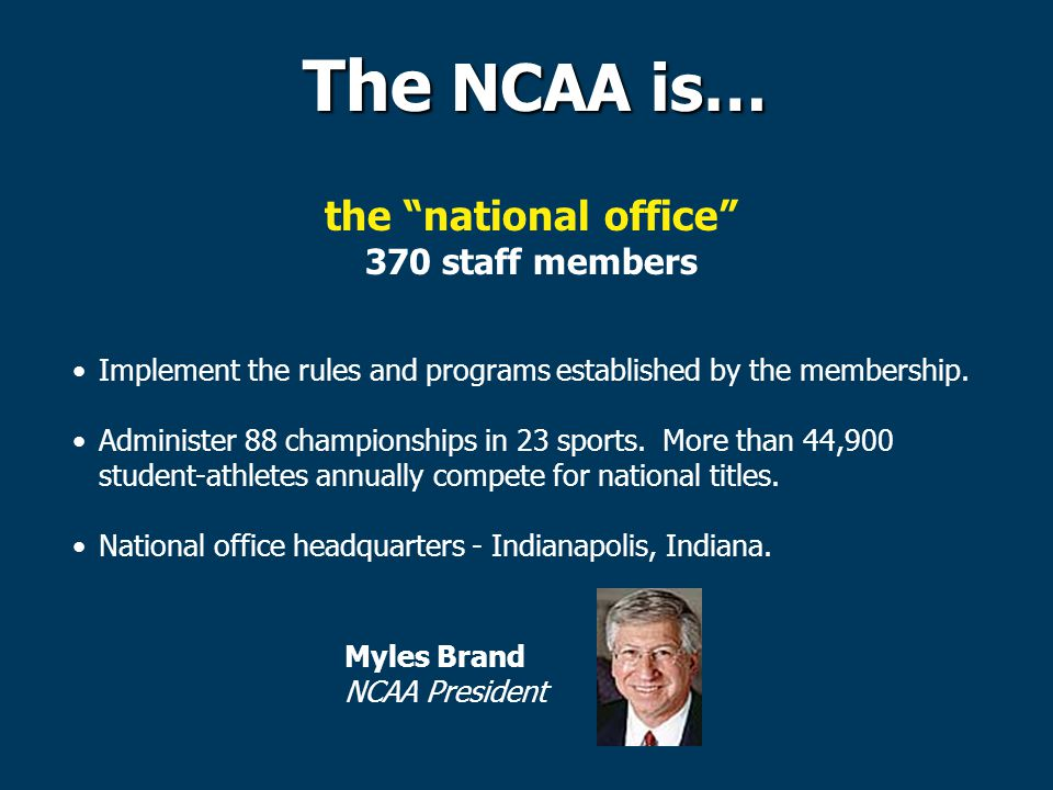 the national office 370 staff members Implement the rules and programs established by the membership.