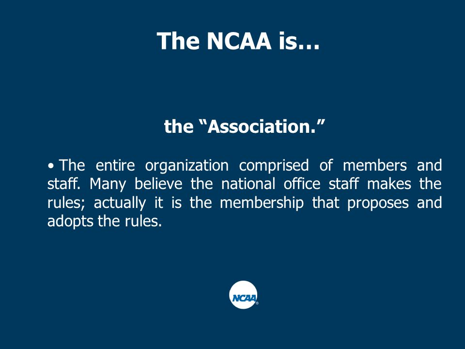 the Association. The entire organization comprised of members and staff.