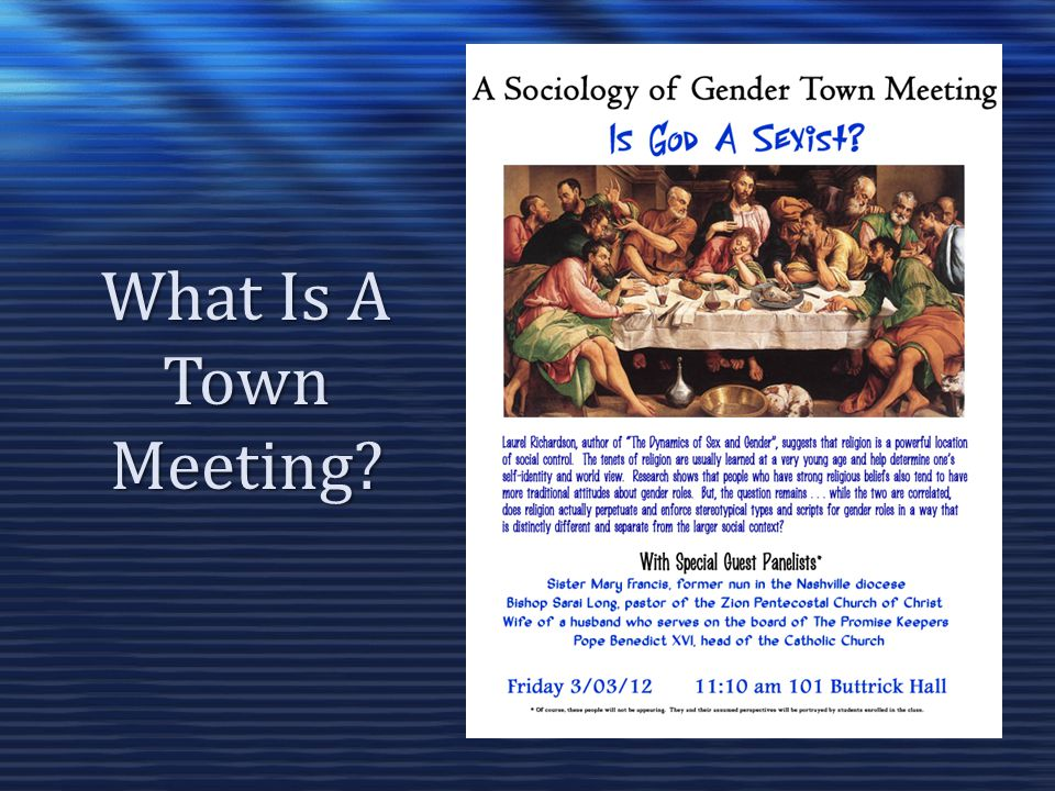 What Is A Town Meeting