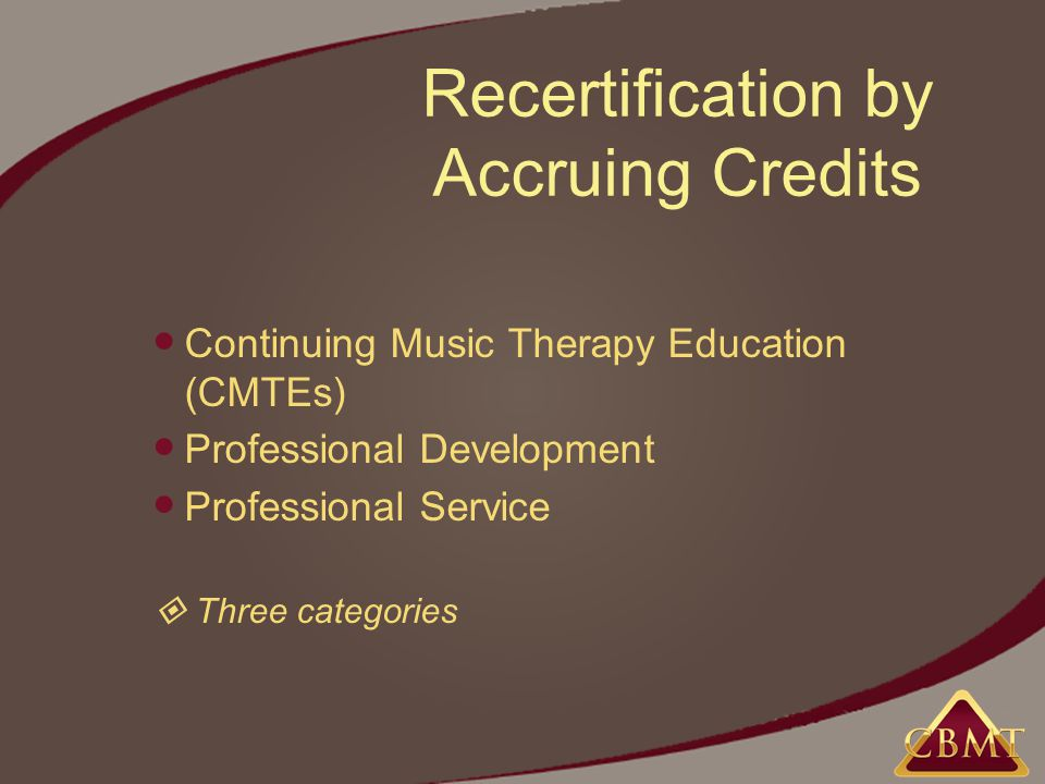 Mt Bc Recertification Options And Opportunities The Certification