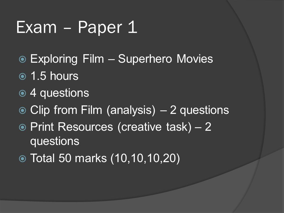 GCSE – Film Studies  In this session, we will…  Consider