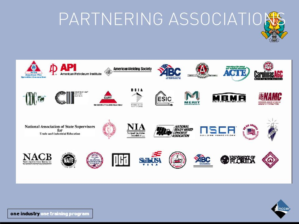 one industry one training program PARTNERING ASSOCIATIONS