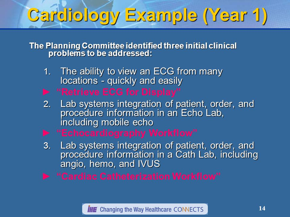 14 Cardiology Example (Year 1) The Planning Committee identified three initial clinical problems to be addressed: 1.