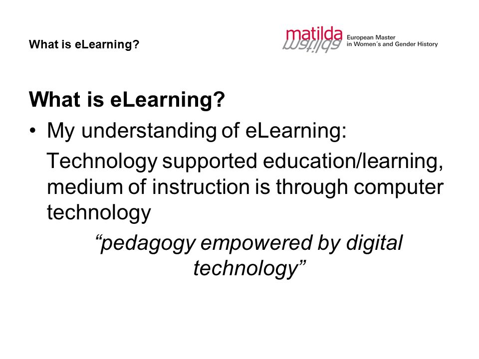 What is eLearning.