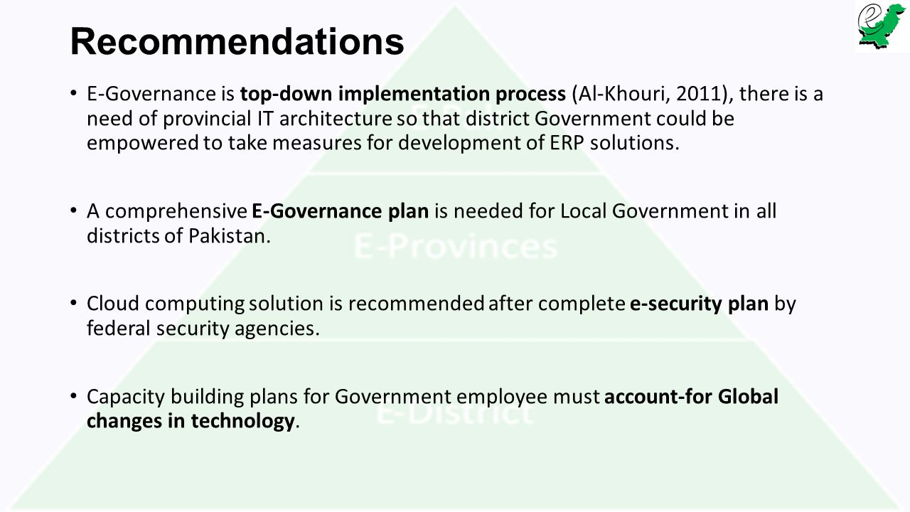e government services in pakistan