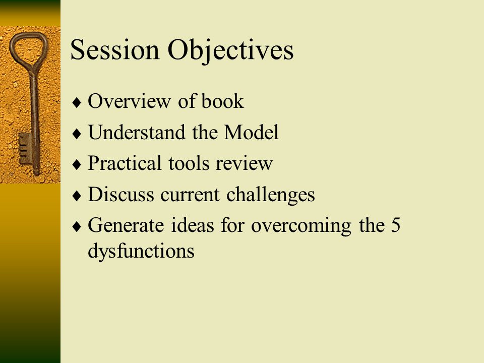 Overview Of Book  Ef 82 A8 Understand The Model  Ef 82 A8 Practical Tools Review  Ef 82 A8 Discuss Current Challenges  Ef 82 A8 Generate Ideas For Overcoming The 5 Dysfunctions