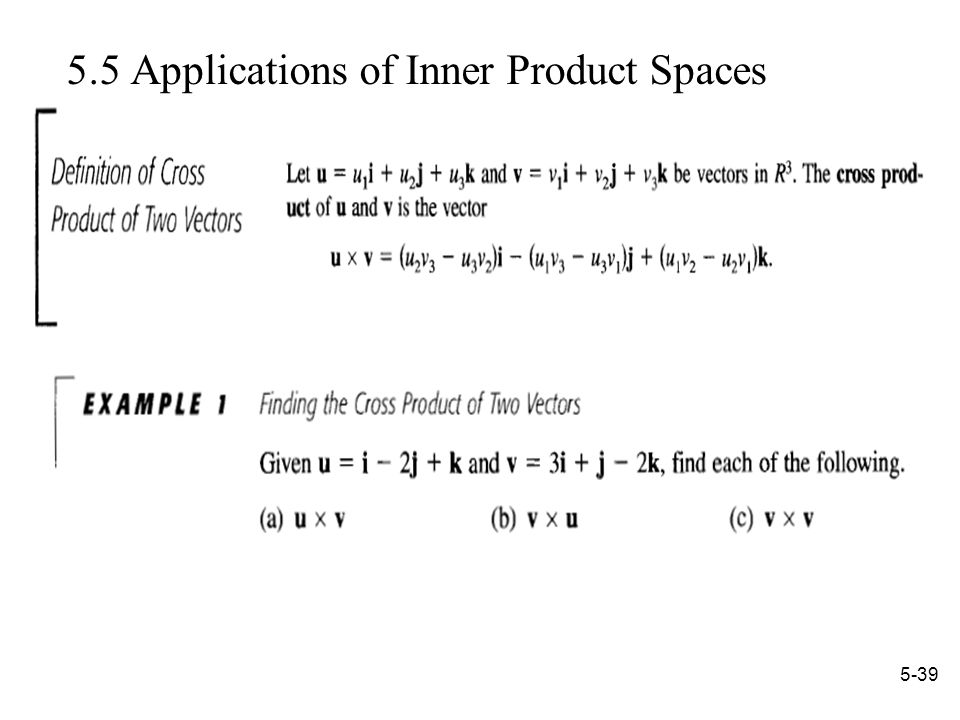 Applications of Inner Product Spaces