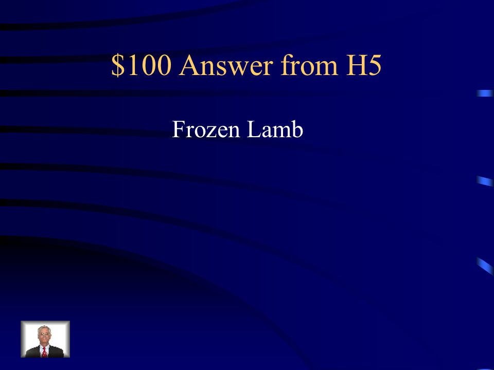 $100 Question from H5 What does Mary use to kill Patrick