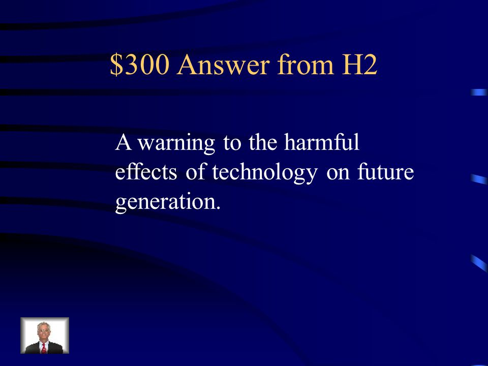 $300 Question from H2 What's the purpose in The Pedestrian