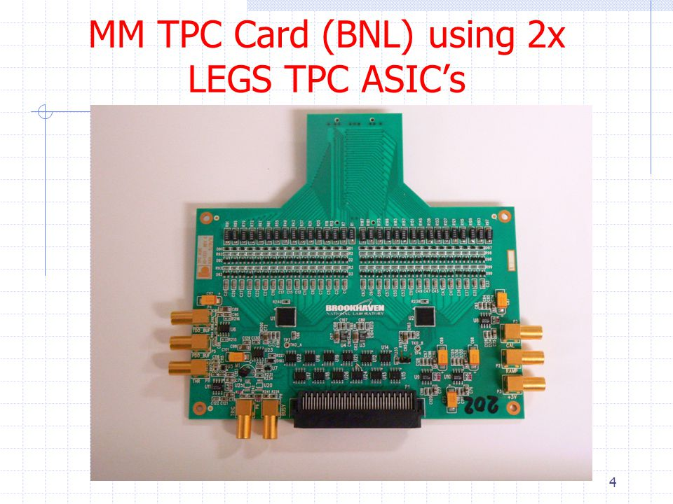 MM TPC Card (BNL) using 2x LEGS TPC ASIC's 4