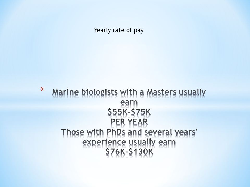 Yearly rate of pay