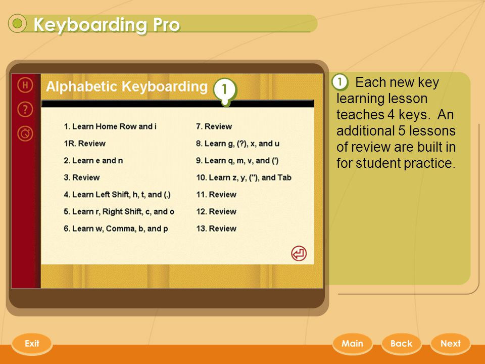 Contents  Keyboarding Pro Keyboarding Pro provides