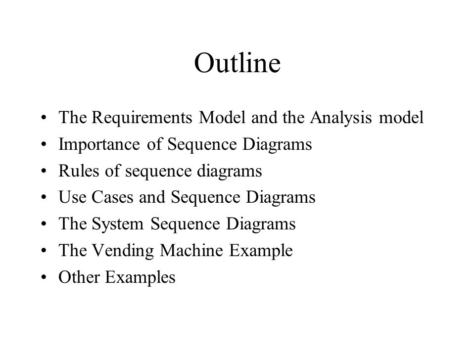 Uml diagrams sequence diagrams the requirements model and the of sequence diagrams rules of sequence diagrams use cases and sequence diagrams the system sequence diagrams the vending machine example other examples ccuart Gallery