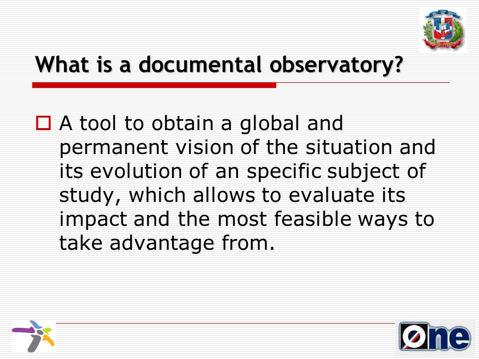 What is a documental observatory.