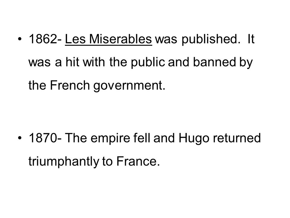 Victor Hugos Les Miserables An Introduction The History France