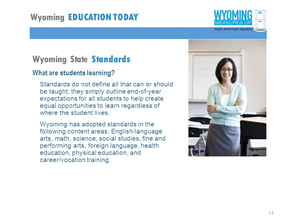 Wyoming State Standards What are students learning.