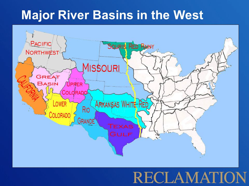 Major River Basins in the West