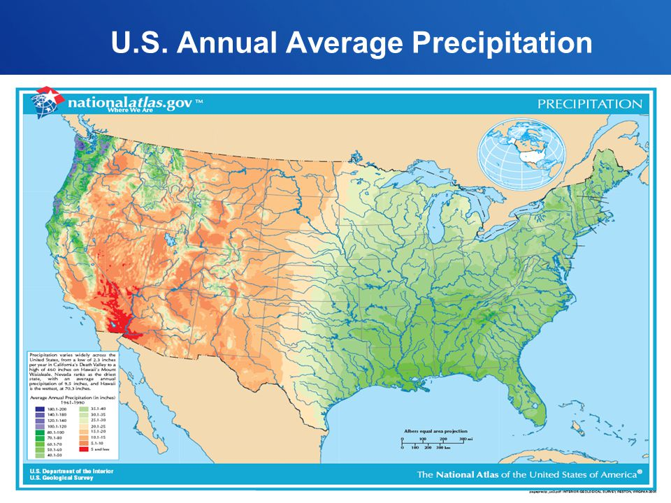 U.S. Annual Average Precipitation