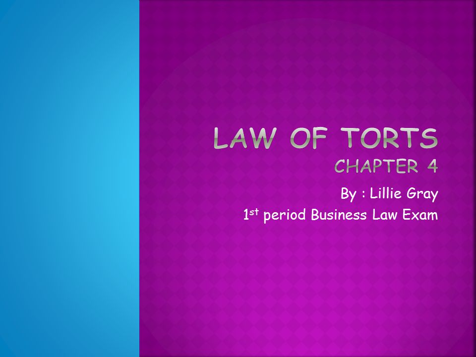 By : Lillie Gray 1 st period Business Law Exam   Crime- an