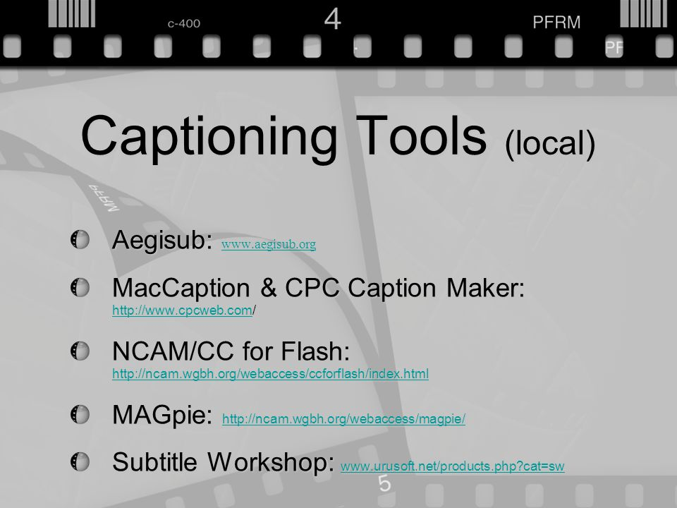 Jayme Johnson ◎ AHG 2012 Captioning Web-based Digital Media