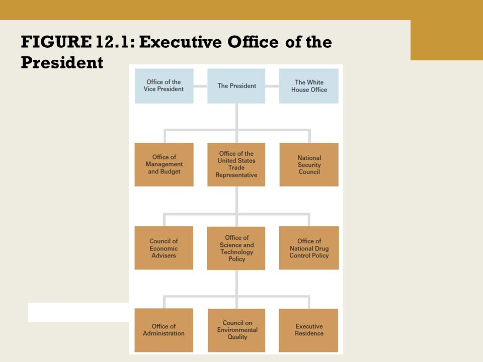 FIGURE 12.1: Executive Office of the President