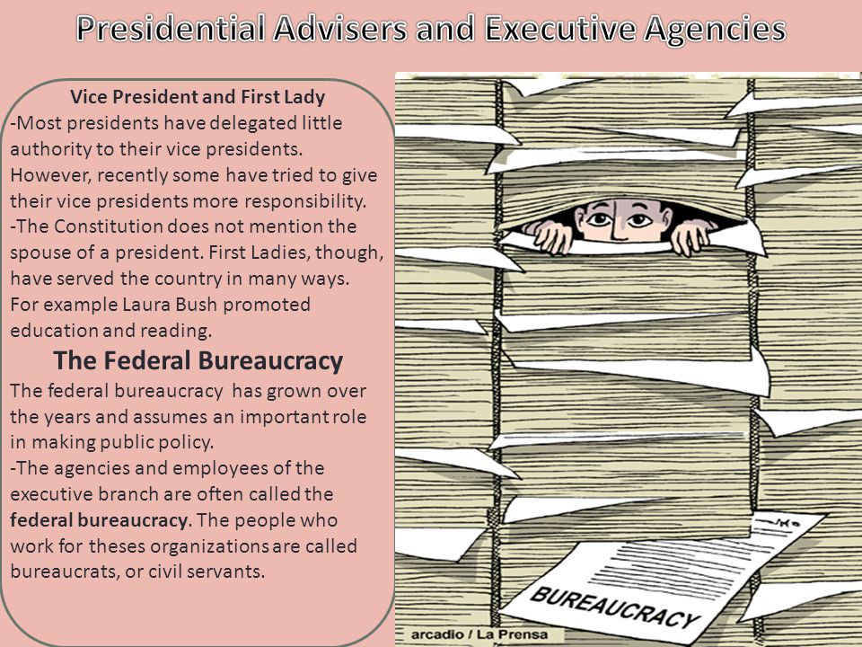 -The cabinet is a group of presidential advisers that includes the heads of the 15 top-level executive departments.