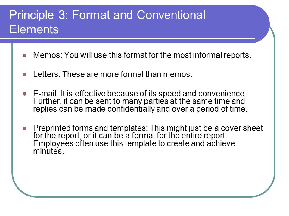Writing Reader Oriented Informal Reports Chapter Ppt Download