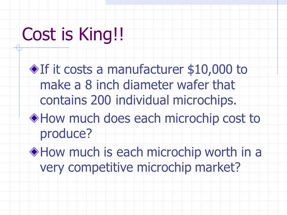 In Technology Size Does Matter In the world of Microchip