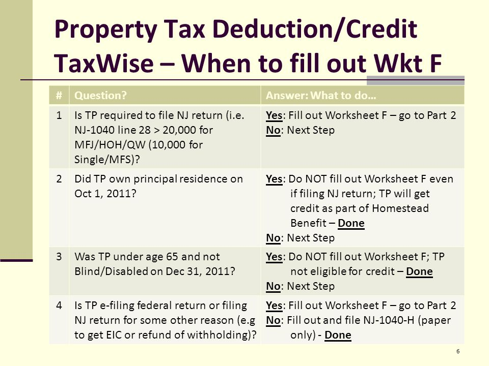 Property Tax Deductioncredit Eligibility Requirements All The. Worksheet. 2011 Eic Worksheet At Clickcart.co