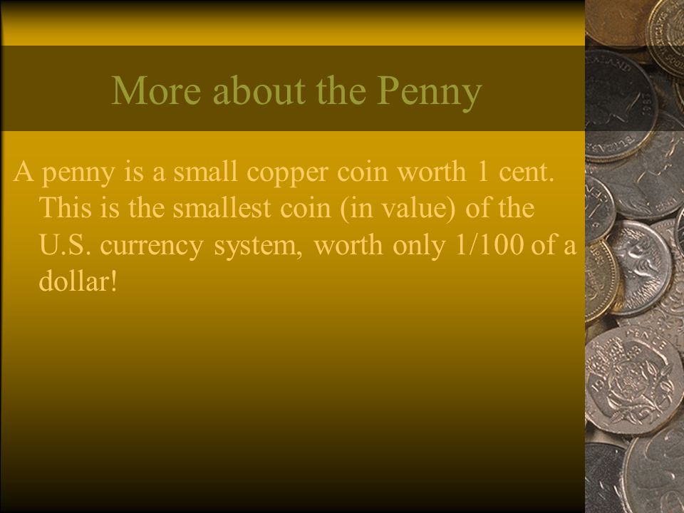Coins Brought to you by powerpointpros com  THE FOUR TYPES OF COINS