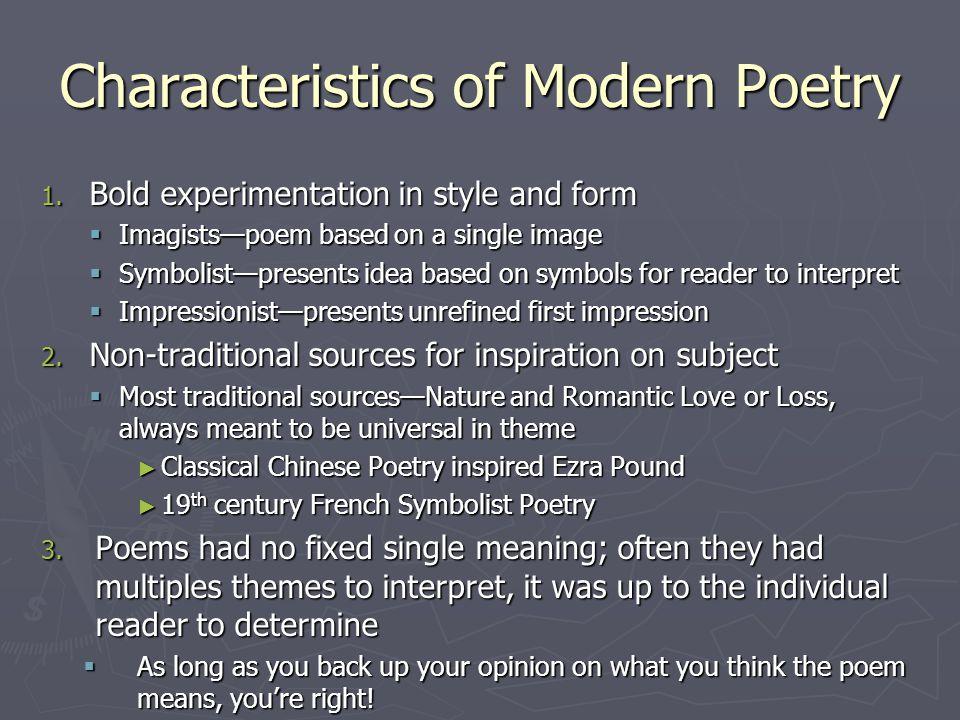 of modern poetry