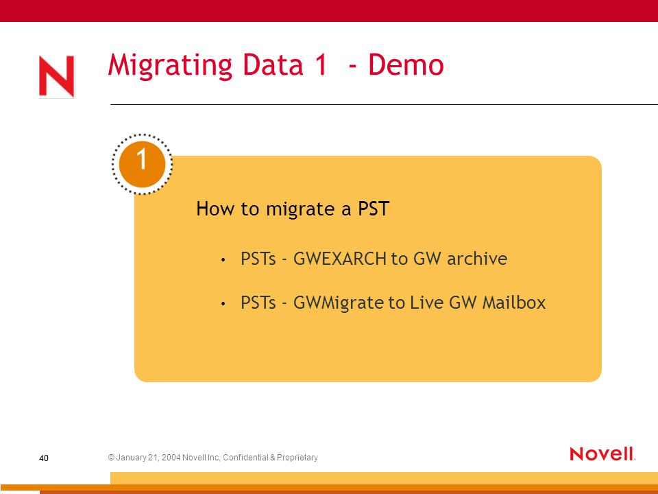 Migrating from Exchange to GroupWise ® Robin Redgrave Senior