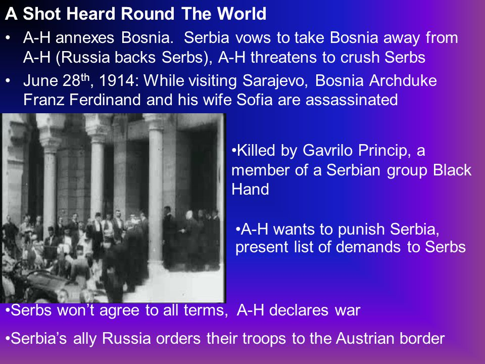 A Shot Heard Round The World A-H annexes Bosnia.