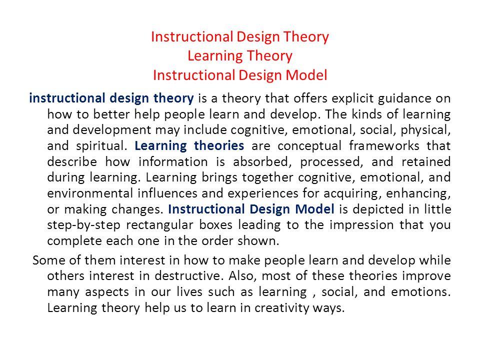 Instructional Design Aeman Alabuod Instructional Design