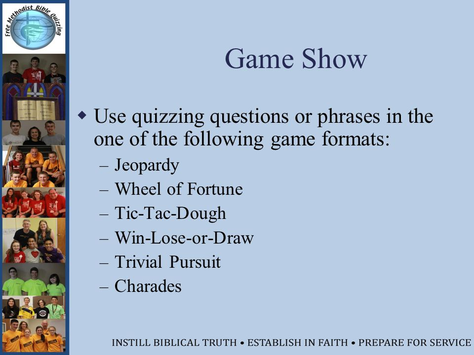 Free Methodist Bible Quizzing Coaches Training Session Ppt Download