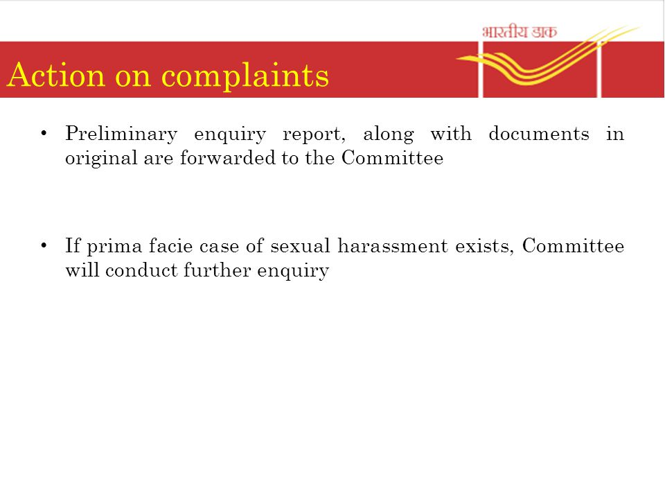 Prima facie sexual harassment definition